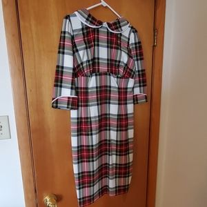 NBW Size L Hell Bunny Vixen plaid dress